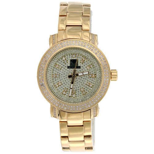 Ladies IceTime 36mm Queen 2 Row Passion Diamond Watch JoJo llusion Dial 0.75 CT.