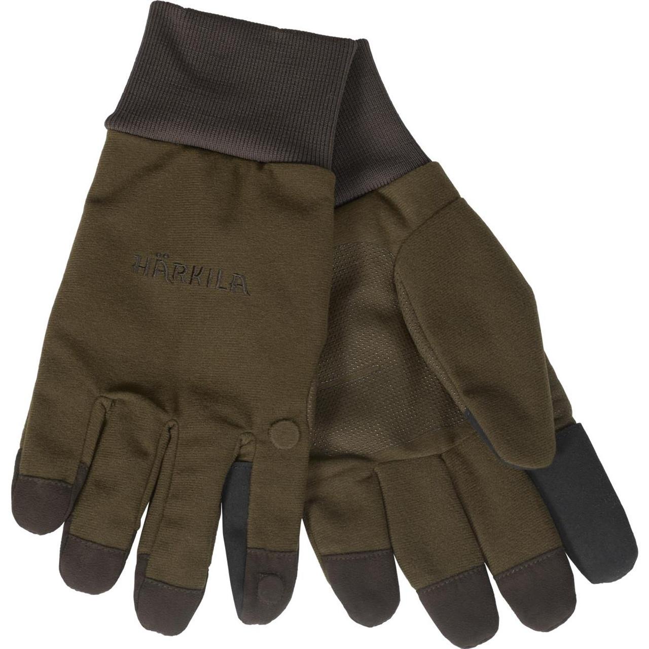 Dark Warm Olive Harkila Mens Retrieve HWS Gloves