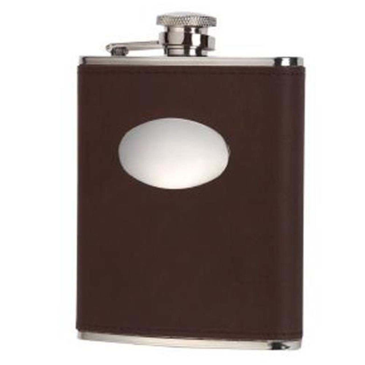 Brown David Nickerson 6oz Hip Flask