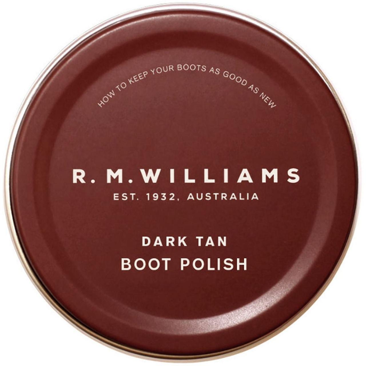 Dark Tan R.M. Williams Stockmans Boot Polish