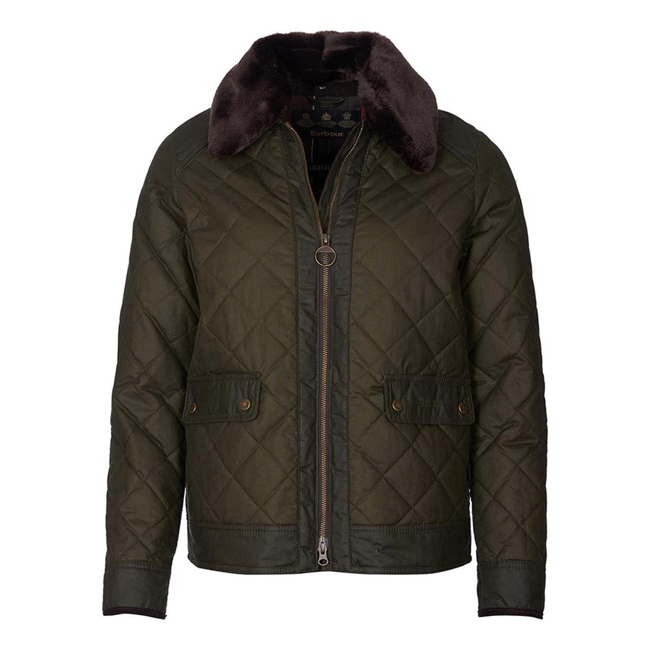 Olive Barbour Womens Glencoe Wax Jacket