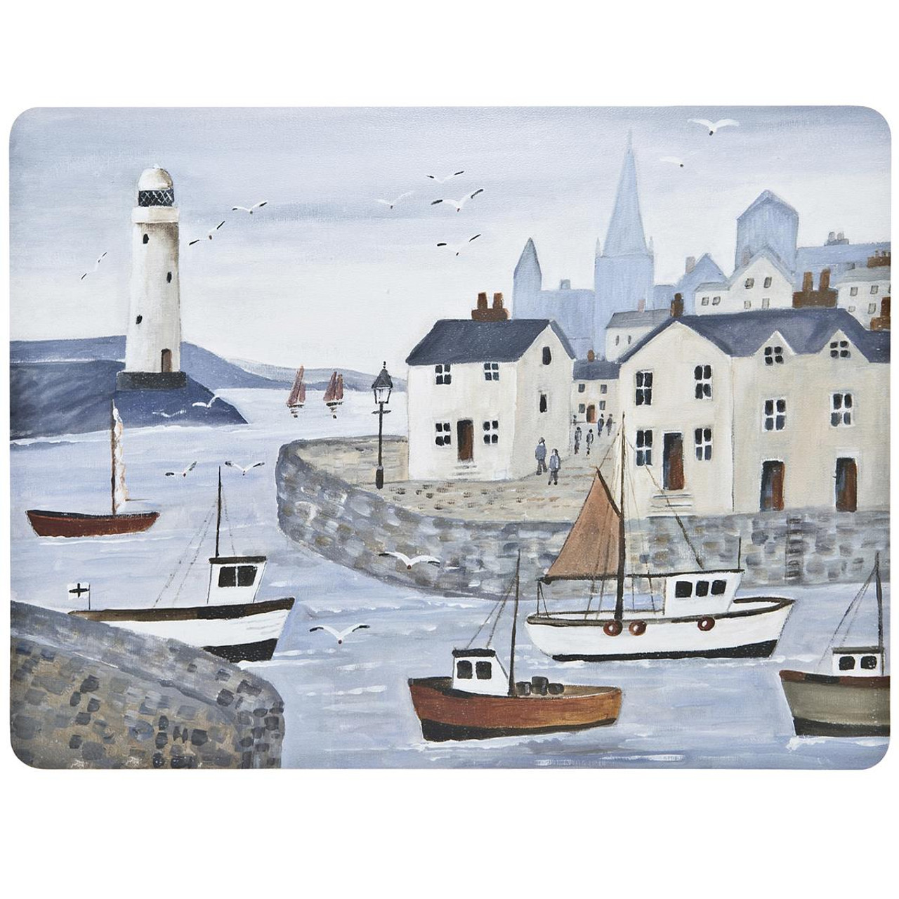 Denby Coastal Lighthouse Set Of 6 Placemats