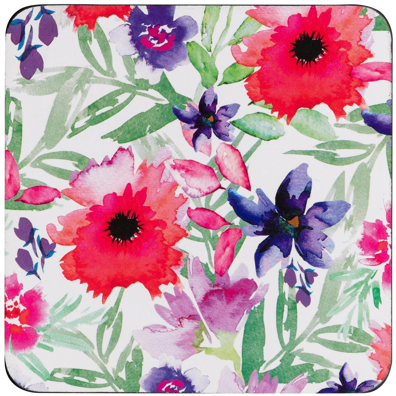 Denby Watercolour Floral Set Of 6 Coasters