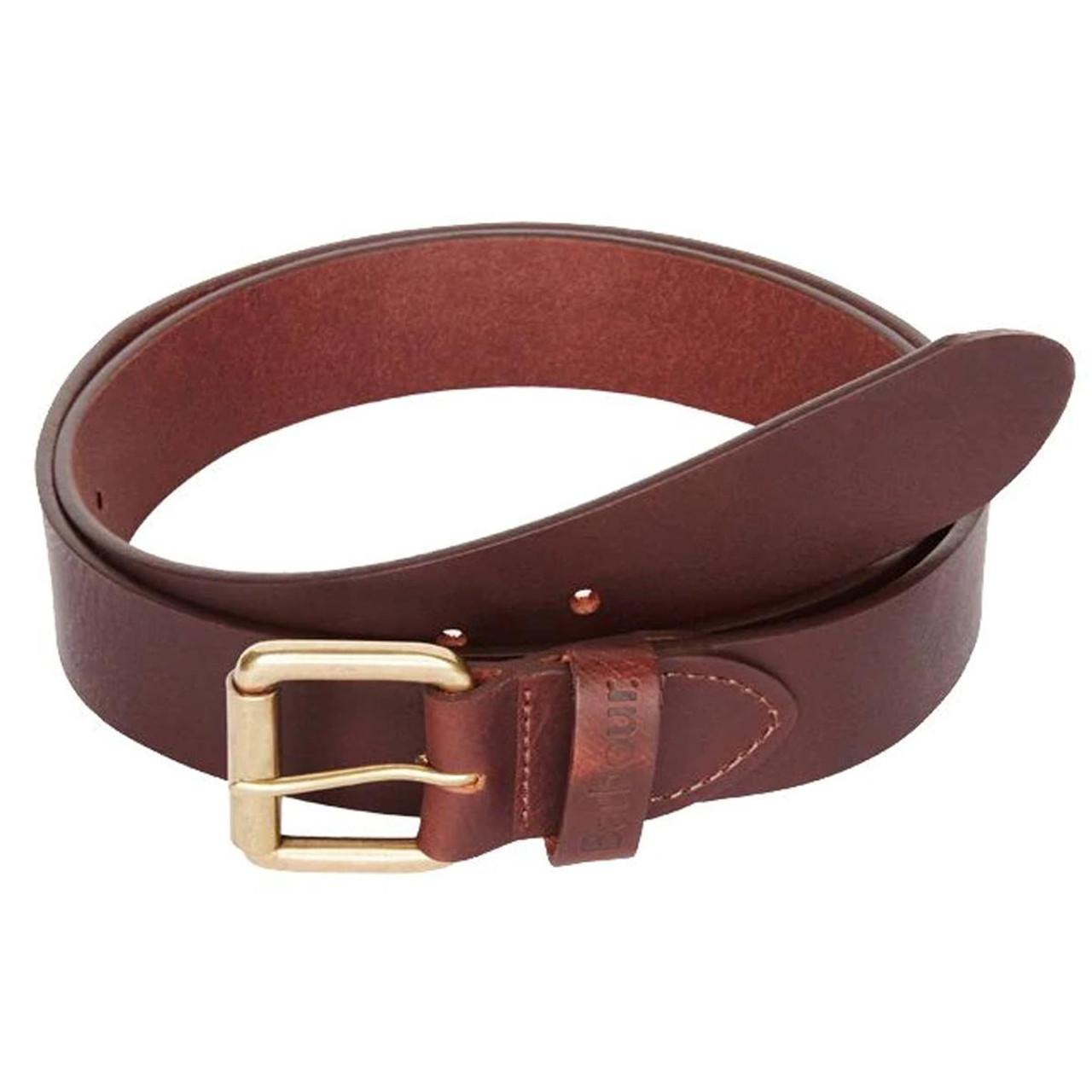 Brown Barbour Matt Leather Belt