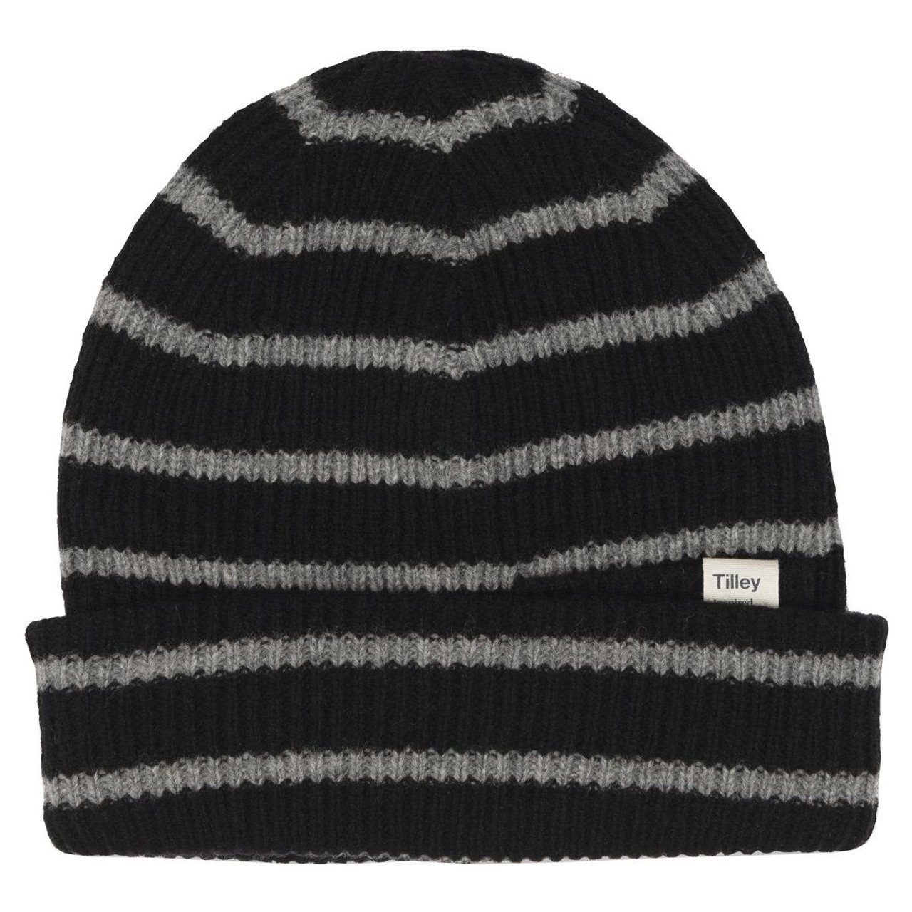 Black/Grey Tilley Merino Stripe Beanie