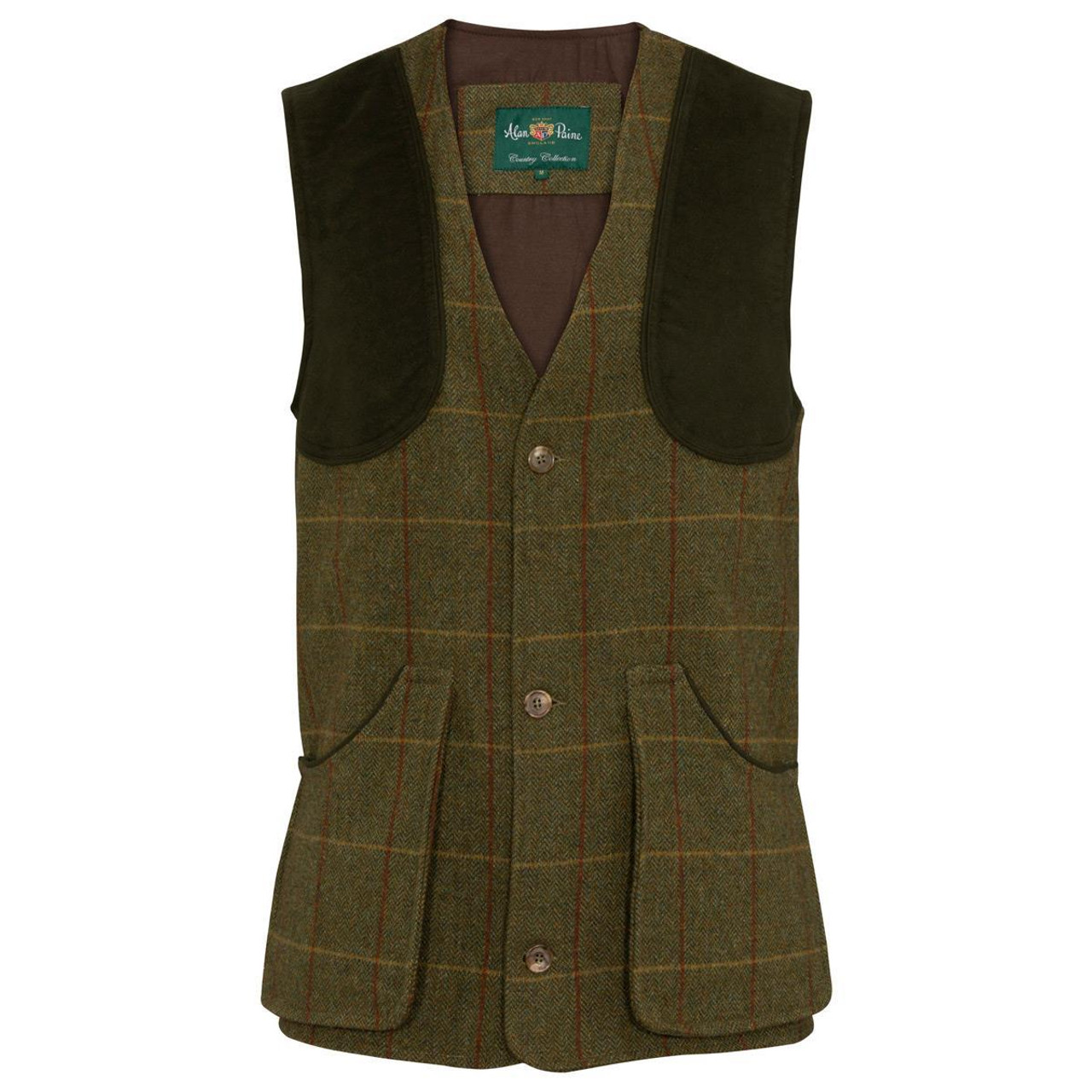 Oak Alan Paine Mens Rutland Shooting Waistcoat