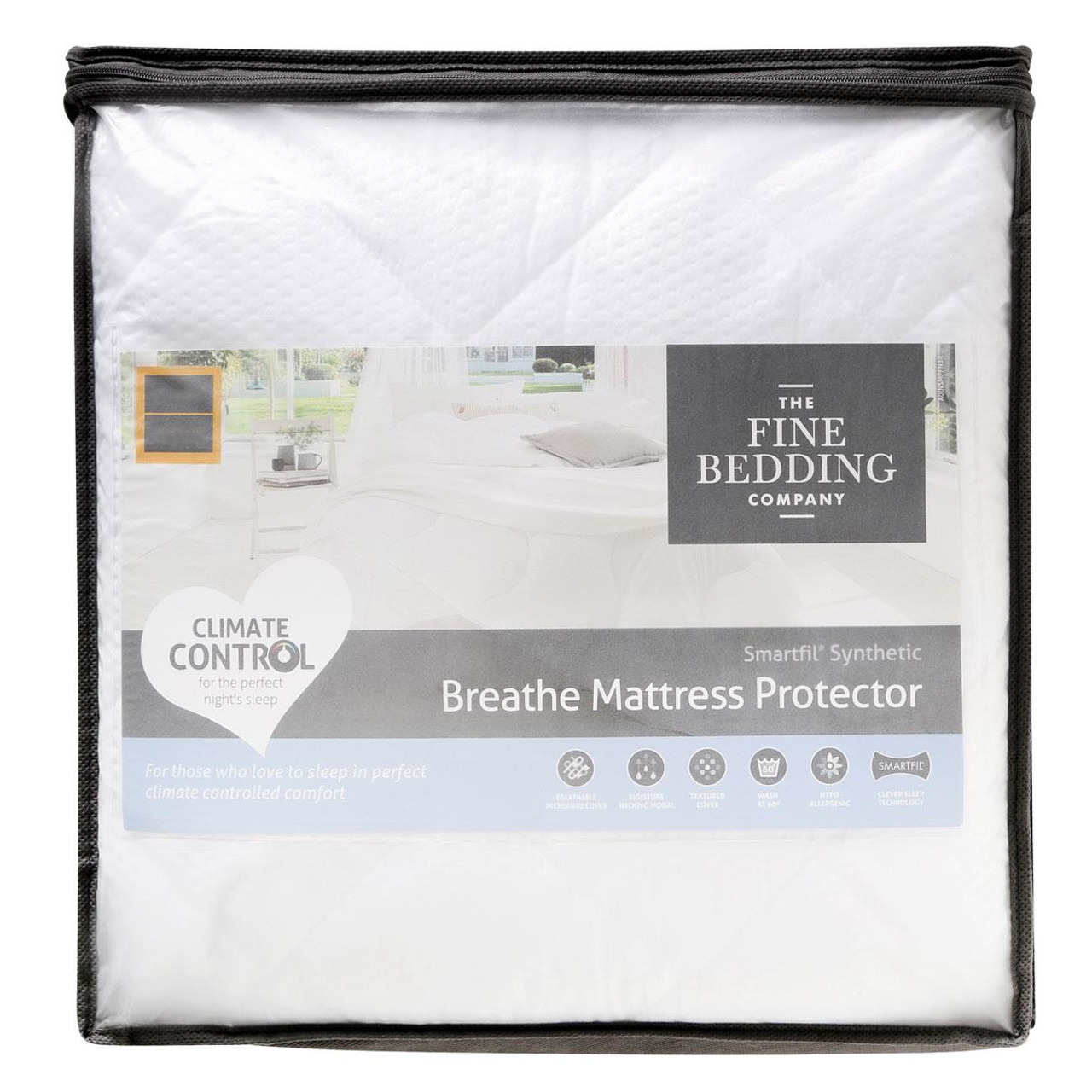 The Fine Bedding Company Breathe Mattress Protector packaging