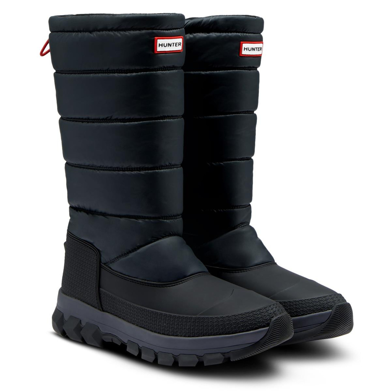 Black Hunter Mens Insulated Snow Tall Boots