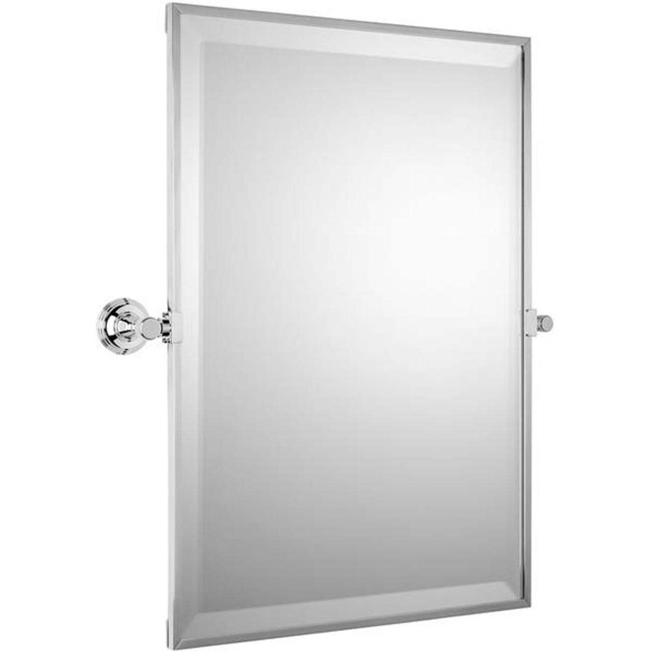 Chrome Plated Samuel Heath Style Moderne Framed Mirror L6743-C