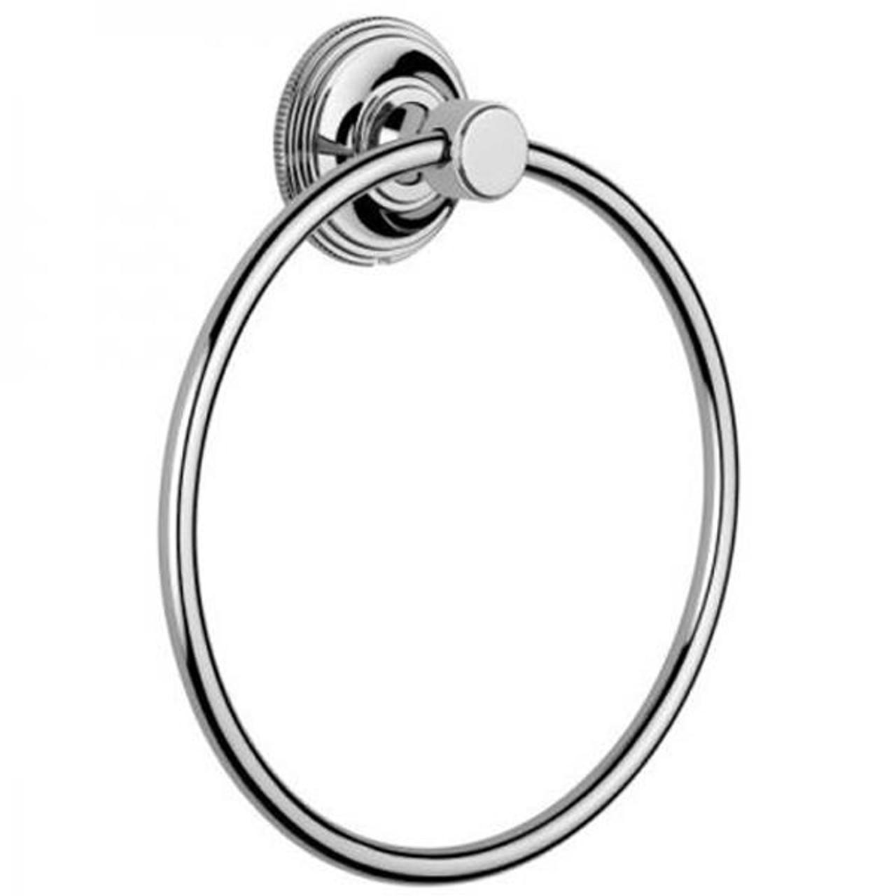 Chrome Plated Samuel Heath Style Moderne Towel Ring N6698