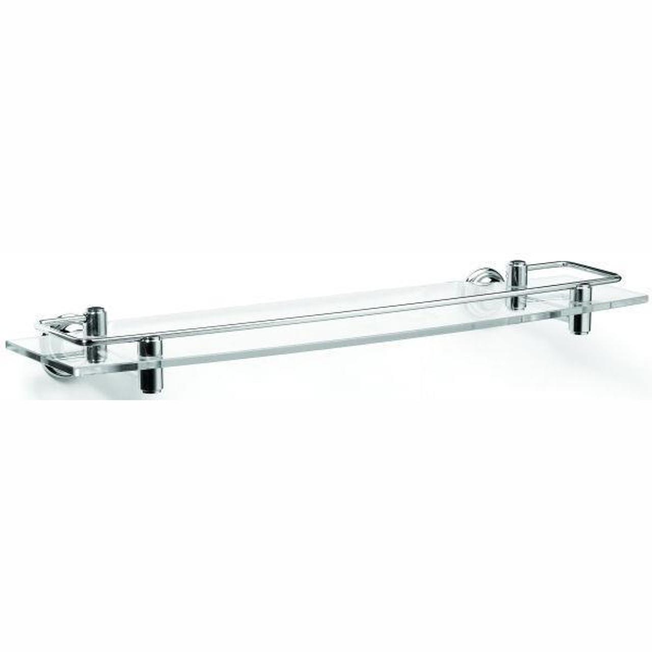 Chrome Plated Samuel Heath Fairfield Glass Shelf With Lifting Rail N9543