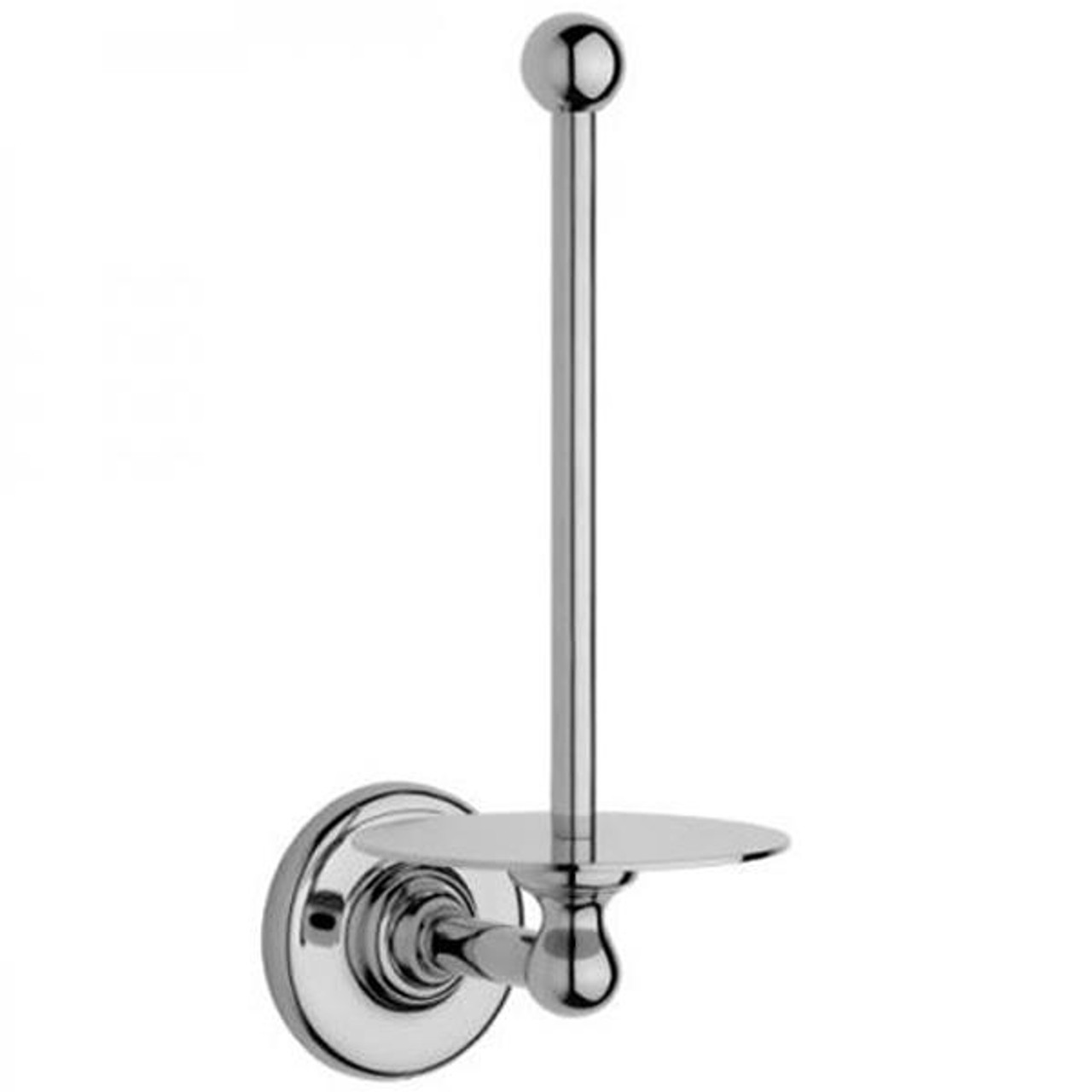 Chrome Plated Samuel Heath Antique Spare Toilet Roll Holder N4331