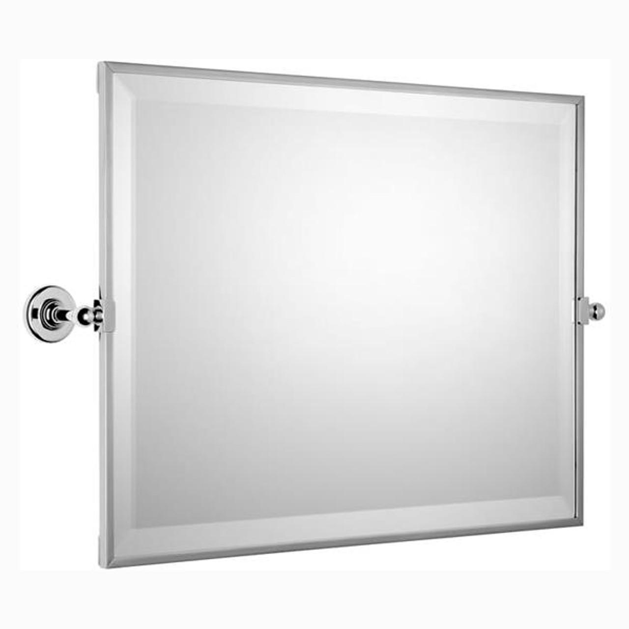 Chrome Plated Samuel Heath Antique Framed Horizontal Mirror N4343