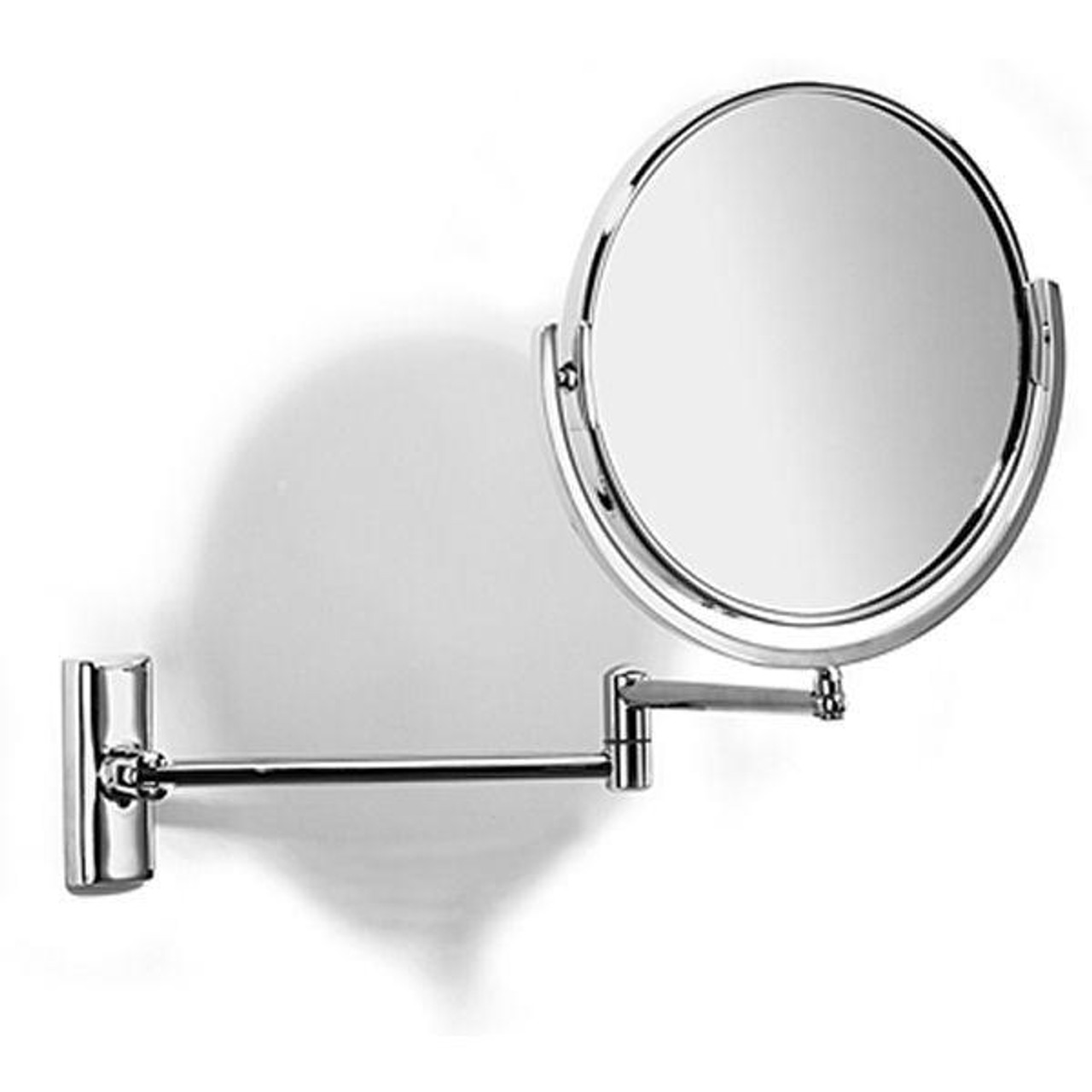 Chrome Plated Samuel Heath Novis Double Arm Pivotal Mirror Plain/Magnifying L114