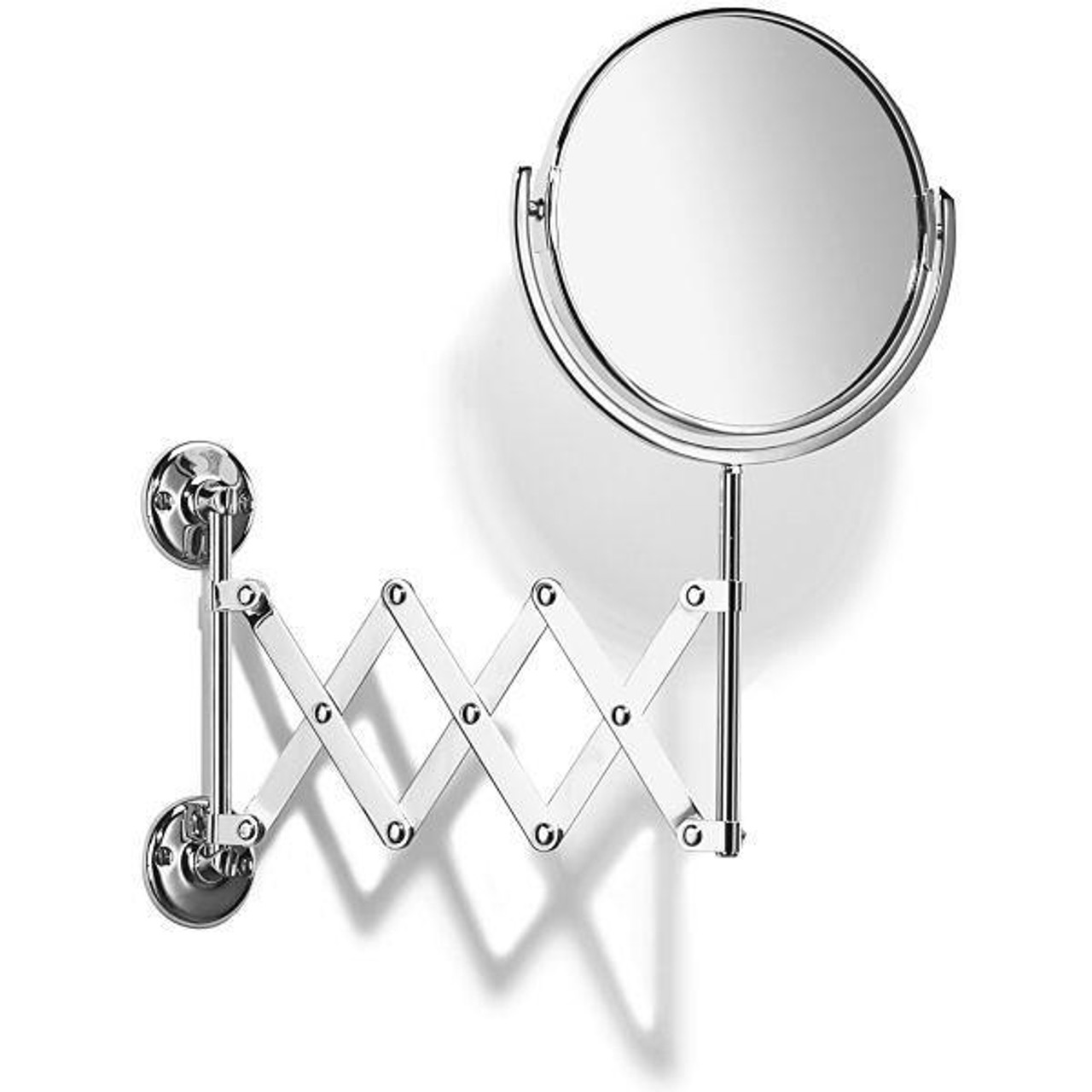 Chrome Plated Samuel Heath Curzon Extending Mirror Plain / Magnifying L110