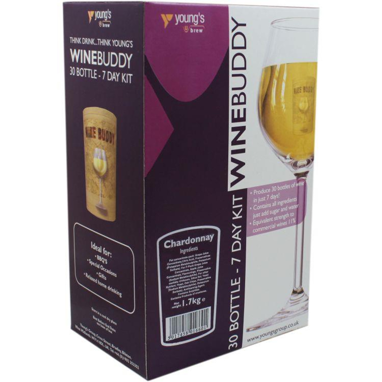 Youngs WineBuddy Chardonnay 30 Bottle Kit