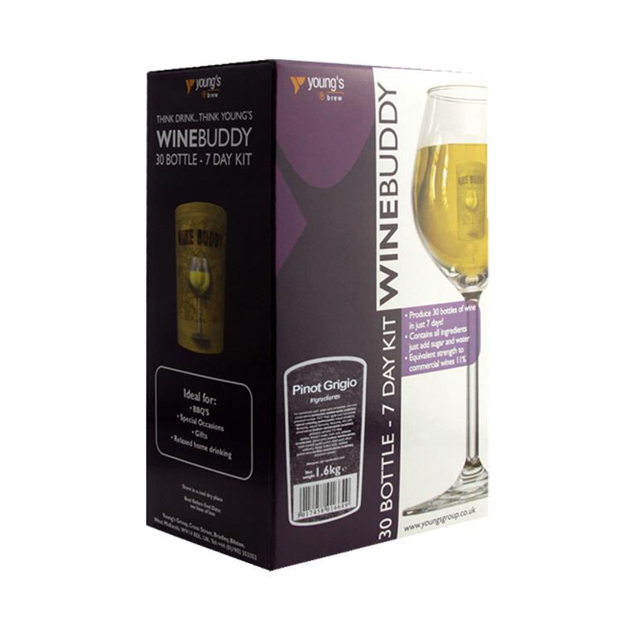 Youngs WineBuddy Pinot Grigio 30 Bottle Kit