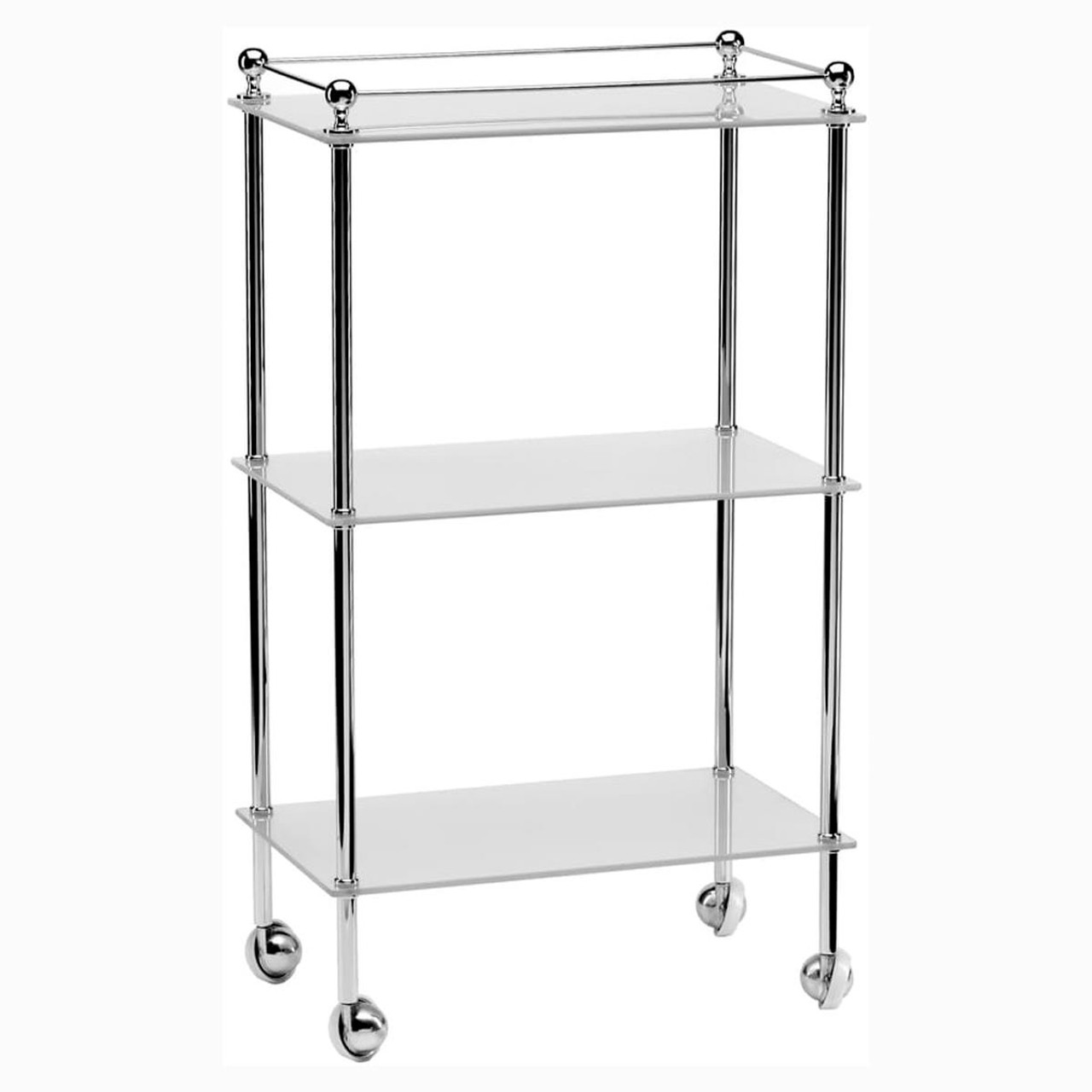 Chrome Plated Samuel Heath Freestanding Trolley L928