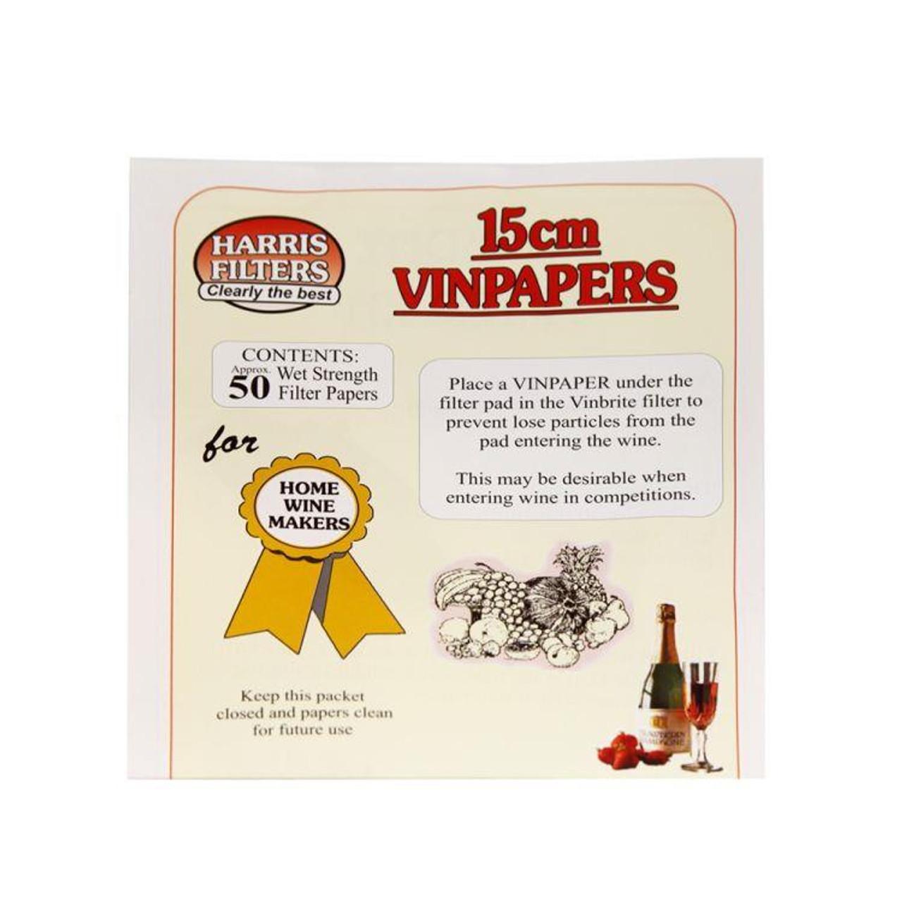 Youngs HF 50 Vinbrite Filter Paper's
