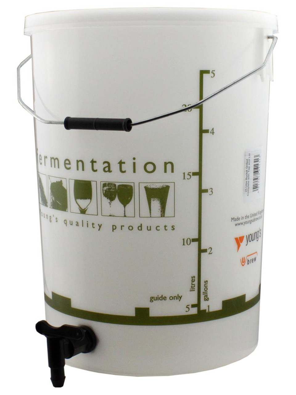 Youngs 25 Litre Fermentation Vessel with Tap