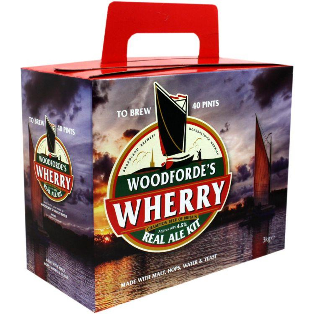 Youngs Woodfordes Wherry Real Ale 40 Pint Kit