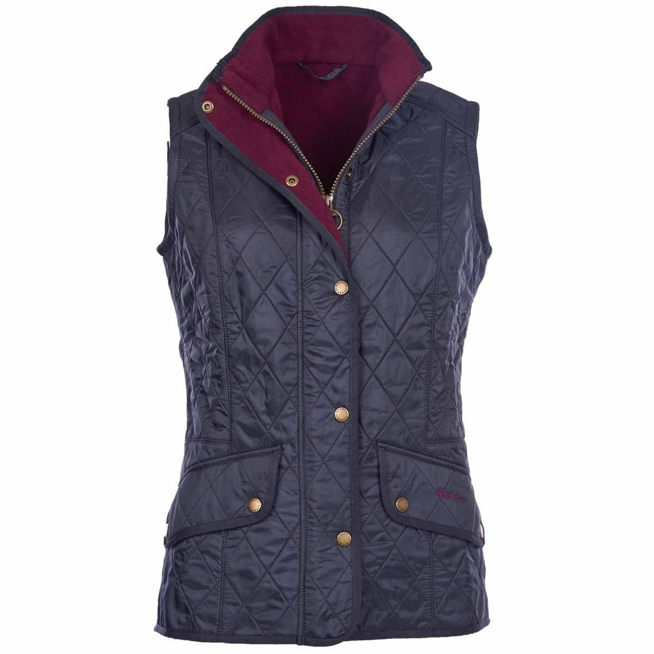 Navy/Merlot Barbour Womens Cavalry Gilet