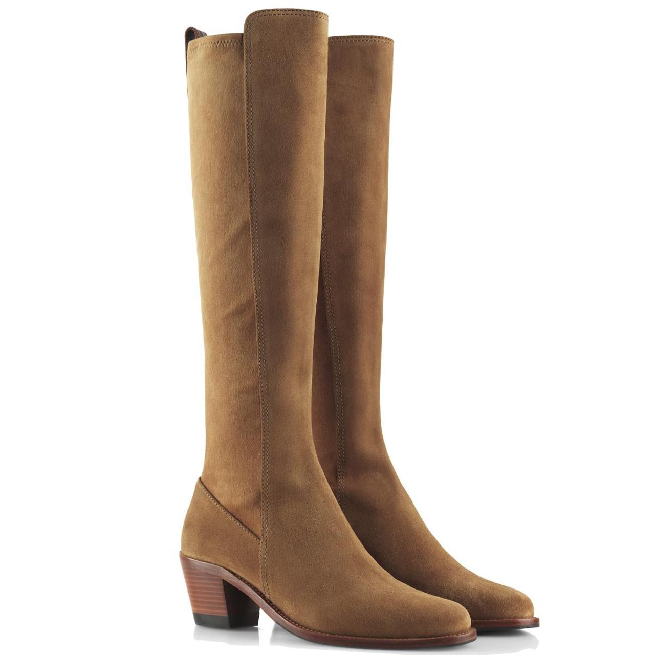 Tan Suede Fairfax & Favor Womens Belgravia Boots