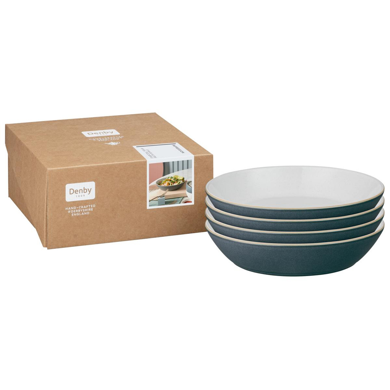 Denby Impression Charcoal Set Of 4 Pasta Bowls