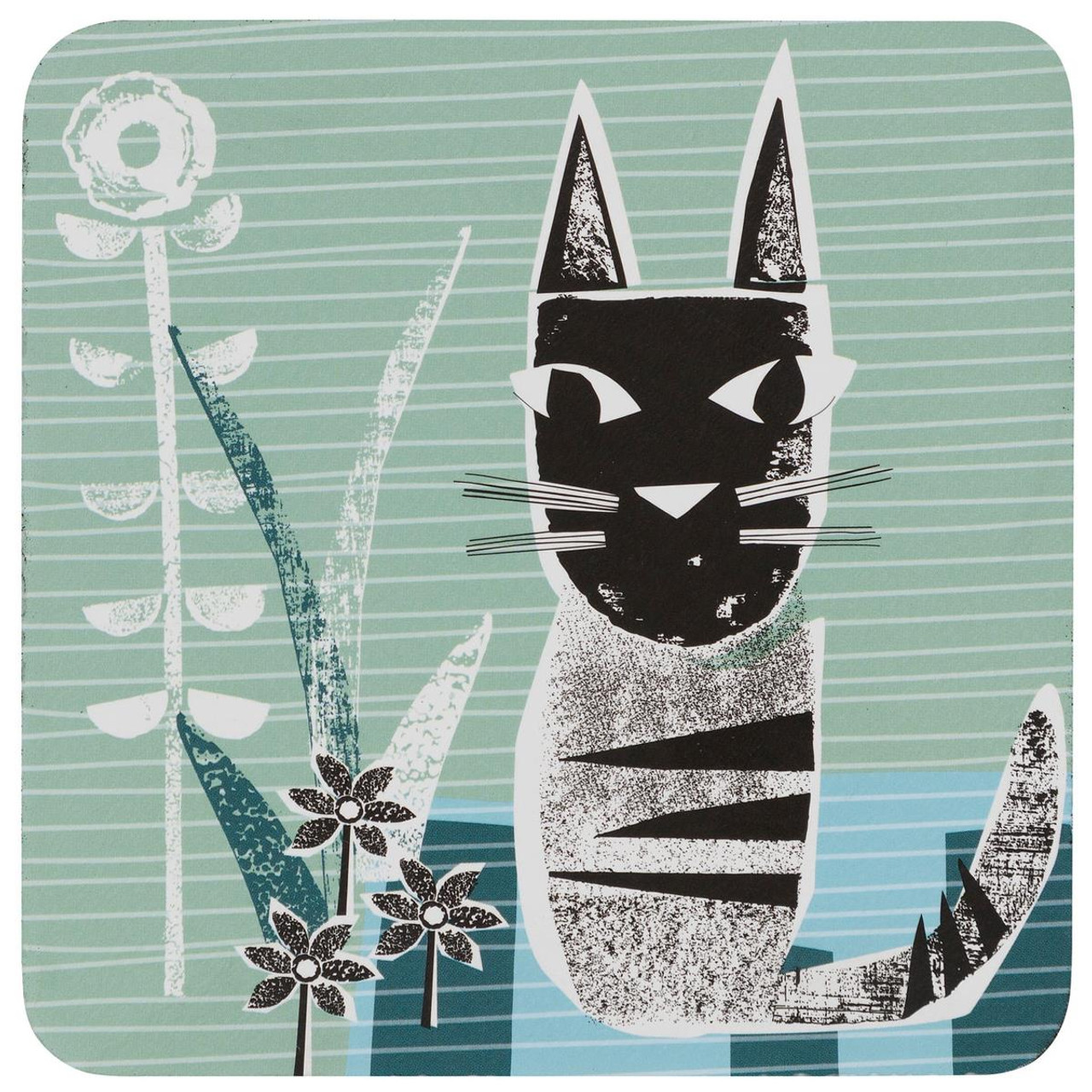 Denby Cat Set Of 6 Coasters