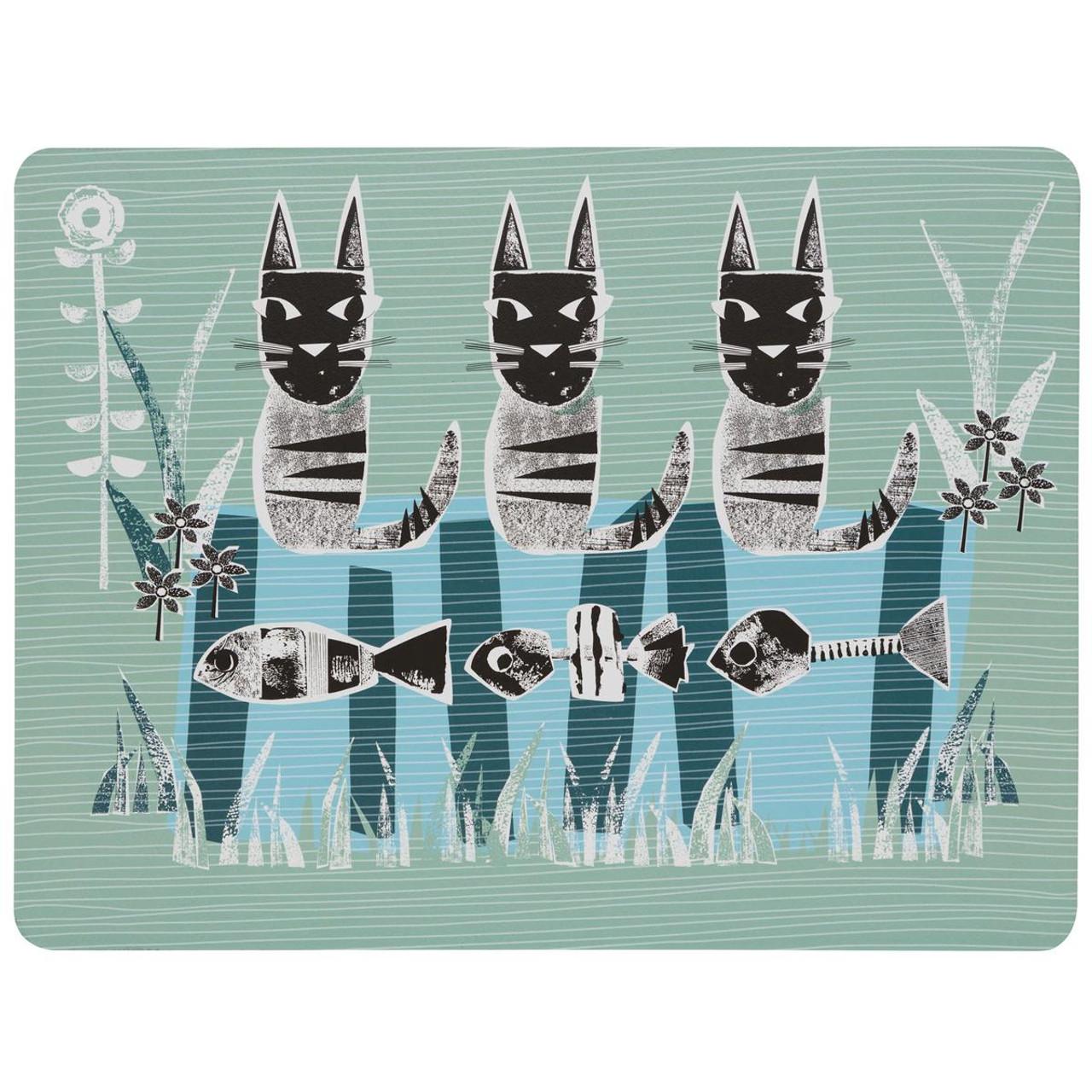 Denby Cat Set Of 6 Placemats