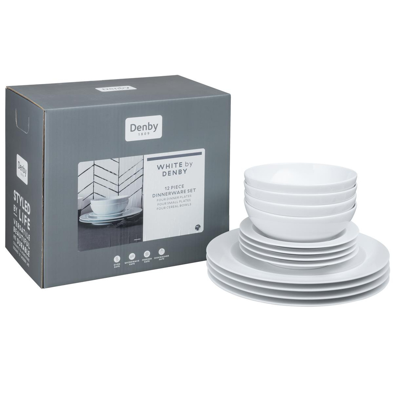 Denby White By Denby 12 Piece Tableware Set