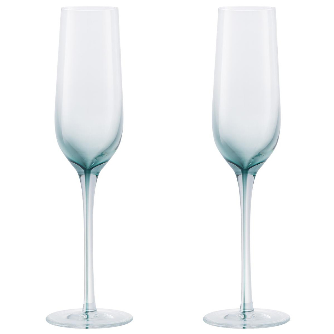 Denby Colours Champagne Flutes (Green) Set of 2