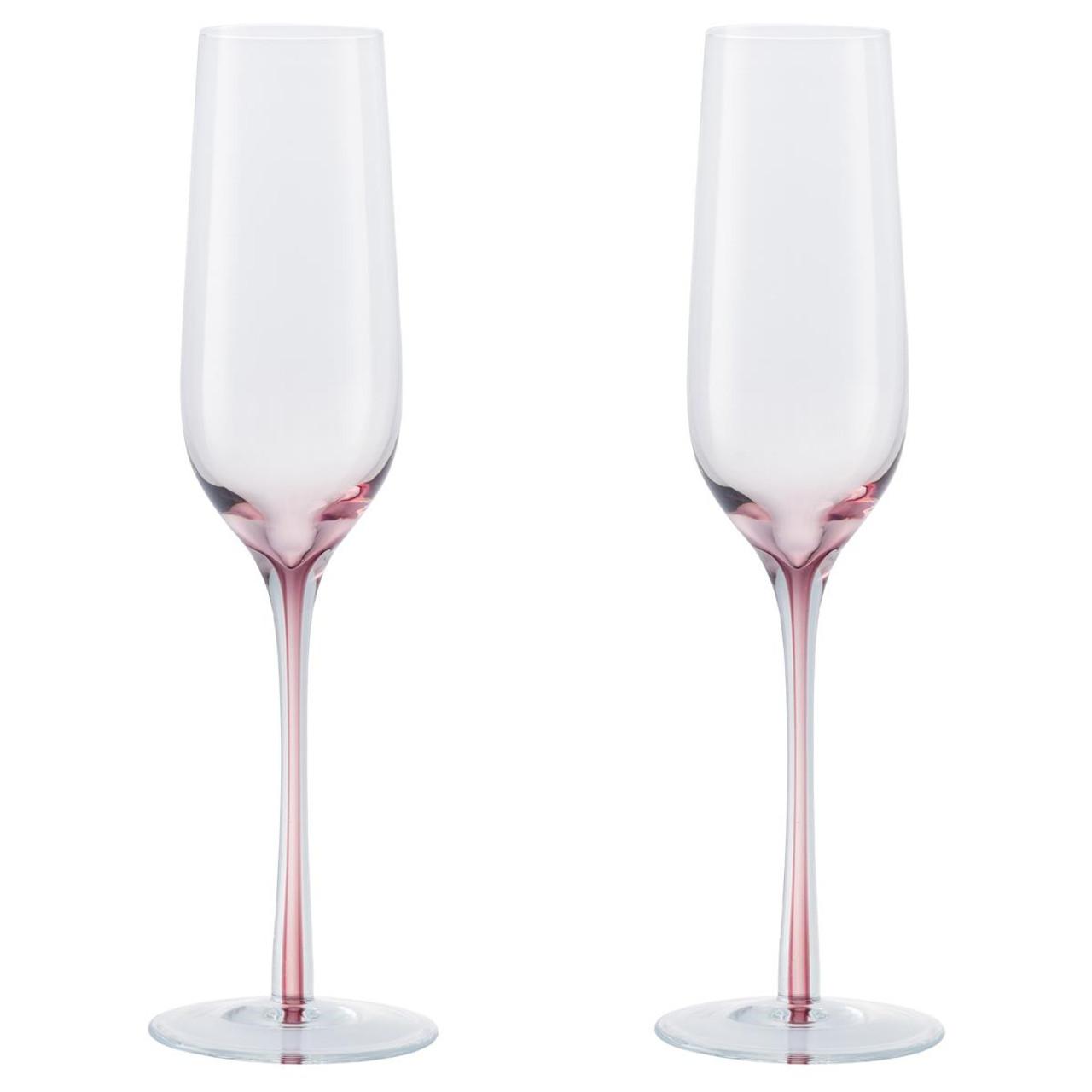 Denby Colours Champagne Flutes (Pink) Set Of 2