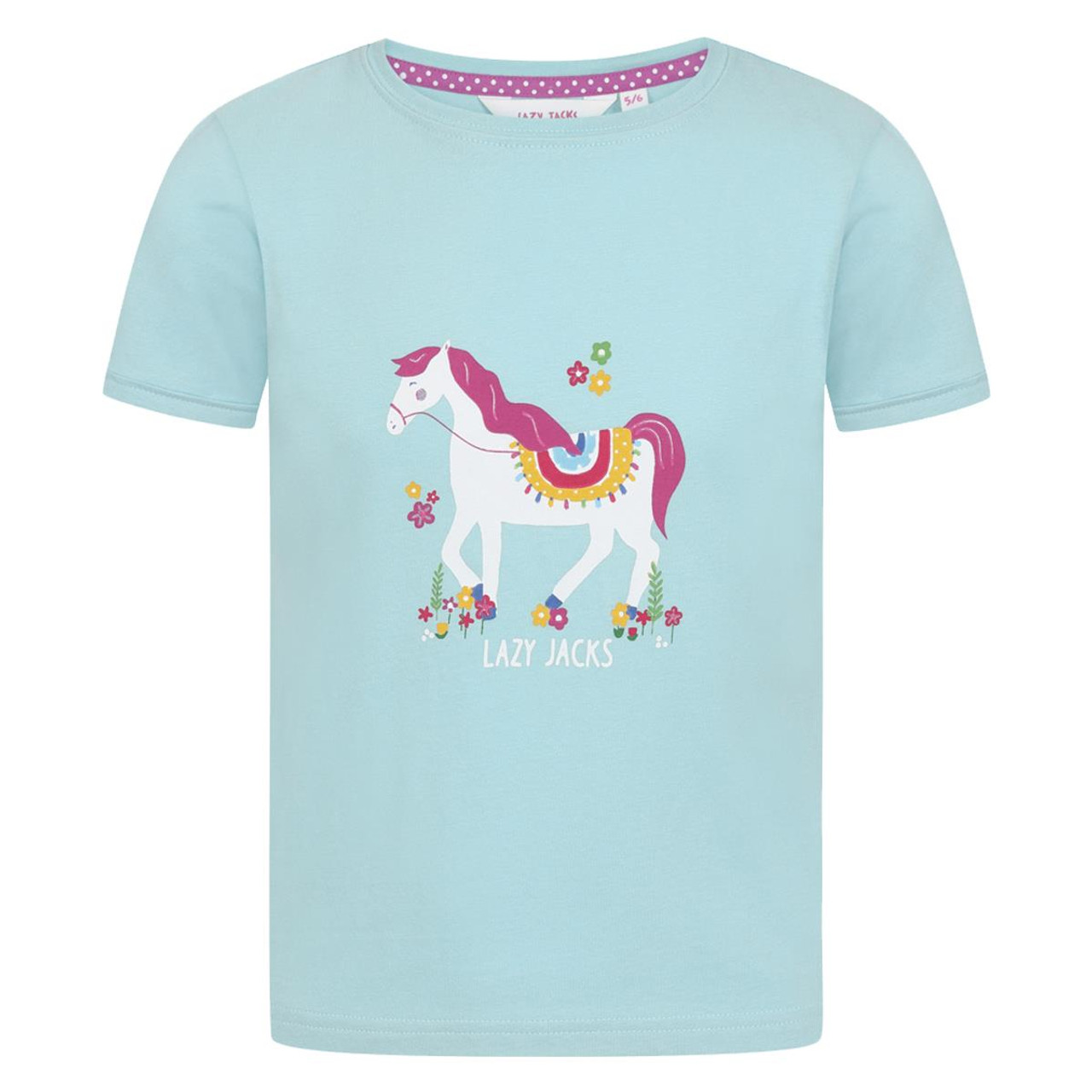 Mint Lazy Jacks Printed T Shirt
