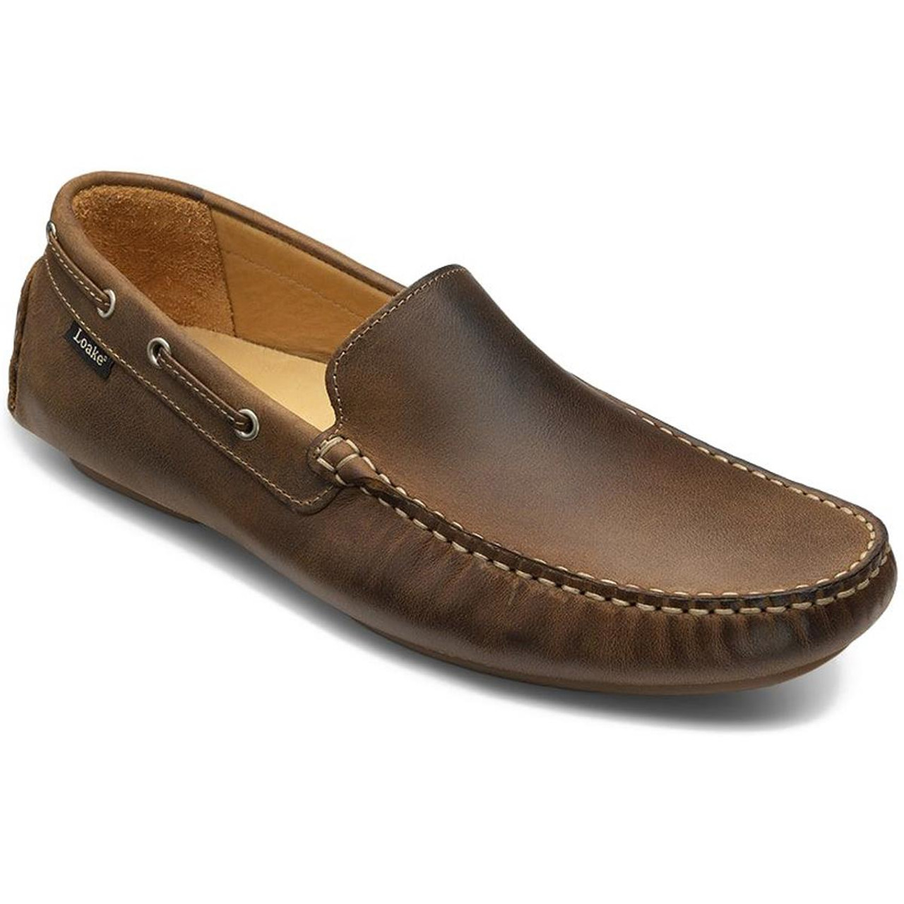 Brown Loake Mens Donington Moccasins Shoes