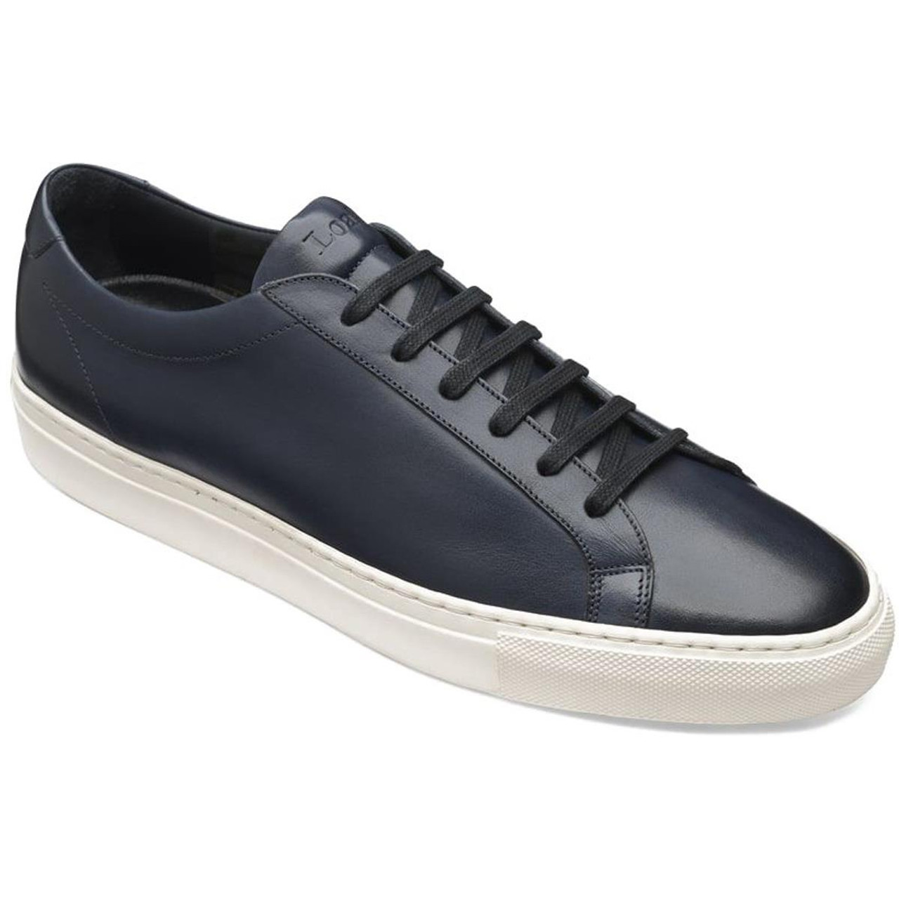 Navy Loake Mens Sprint Trainers