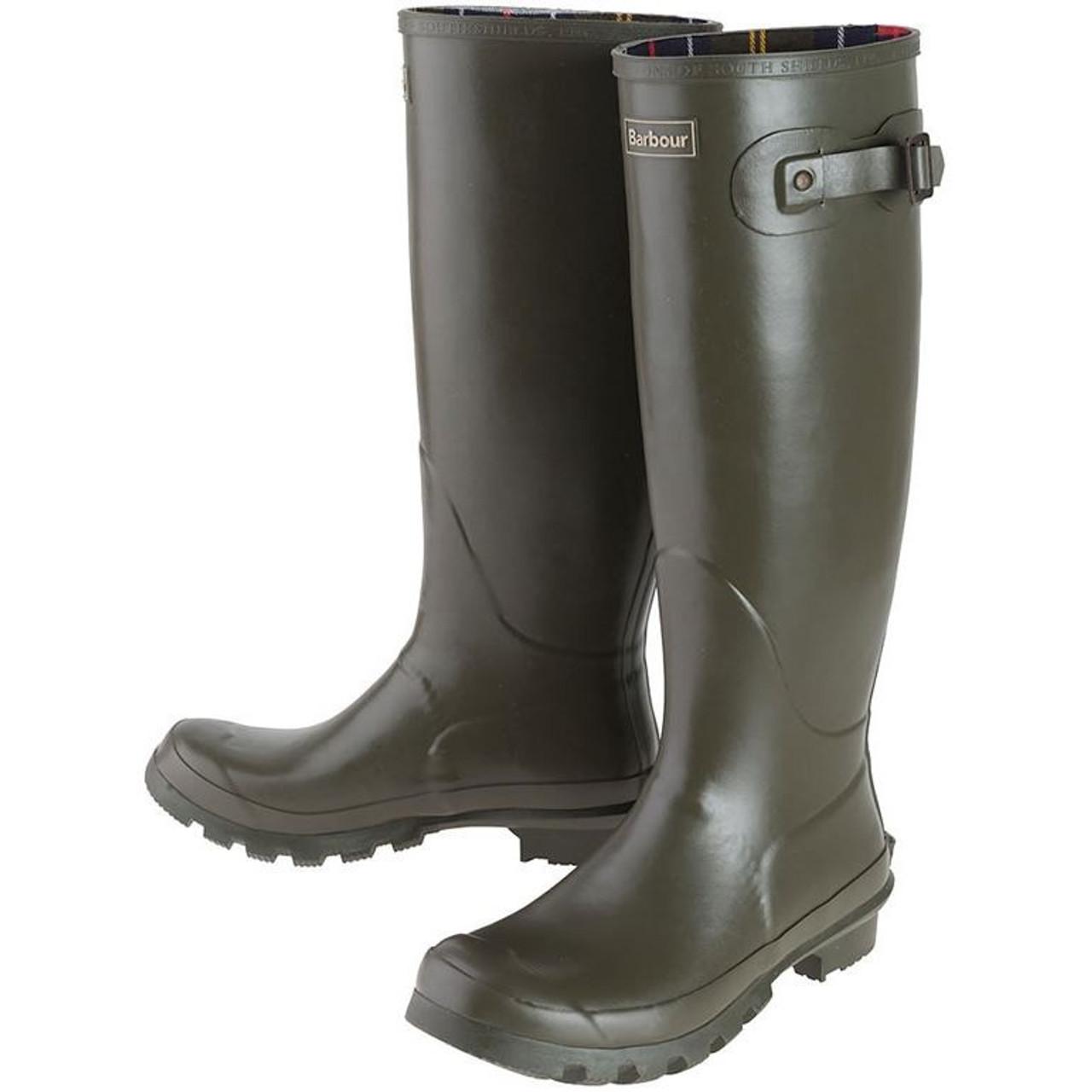 Olive Barbour Womens Bede Wellington Boots
