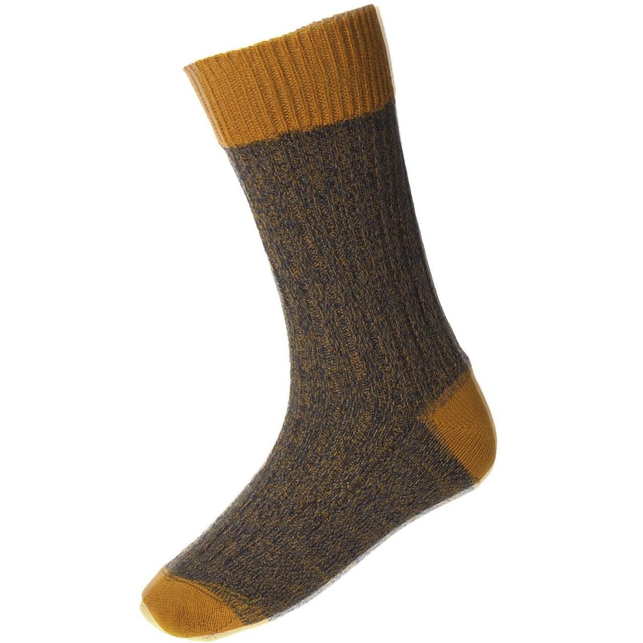 Ochre - House Of Cheviot Firth Boot Socks