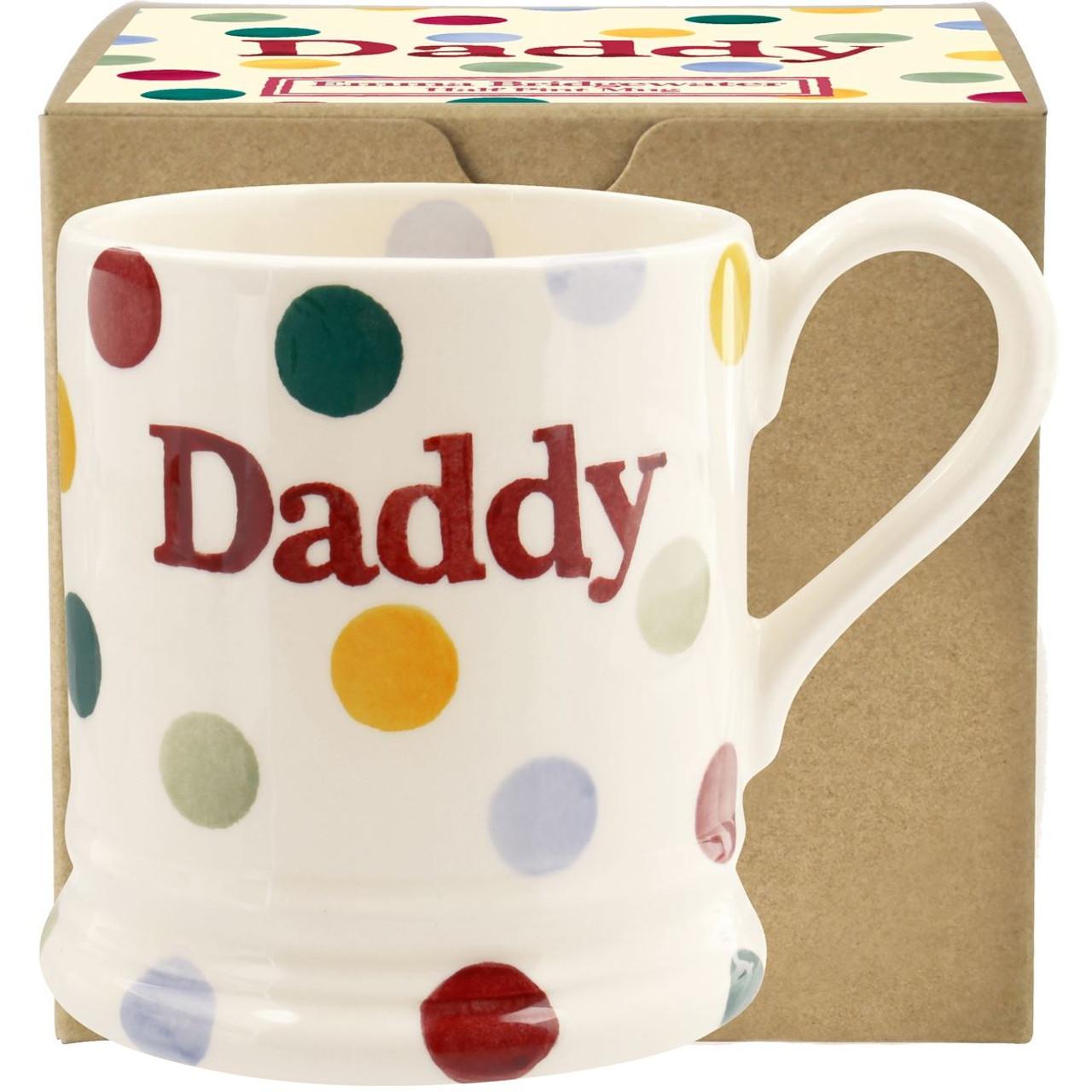 Emma Bridgewater Polka Dot Daddy Half Pint Mug