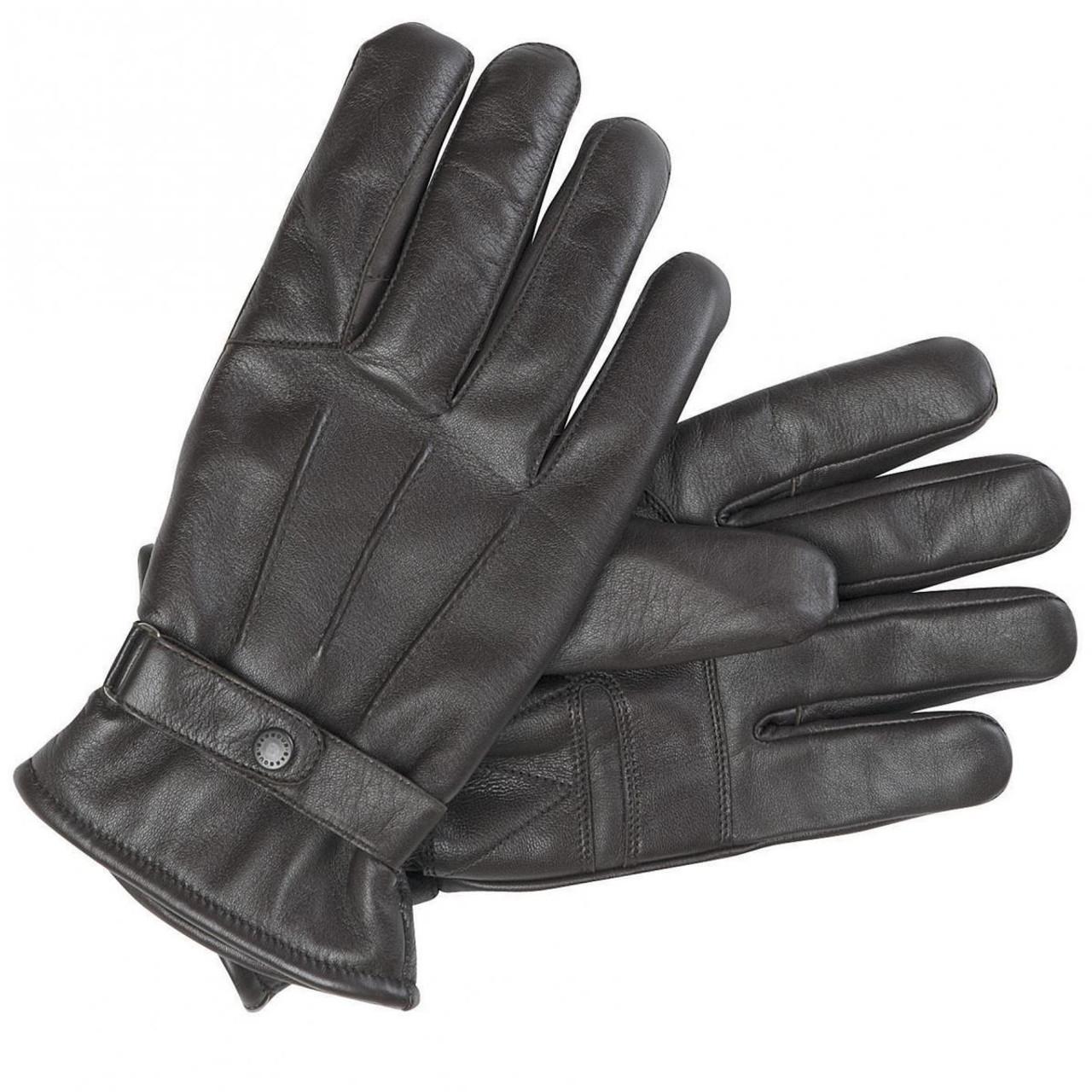 Barbour Mens Burnished Leather Gloves