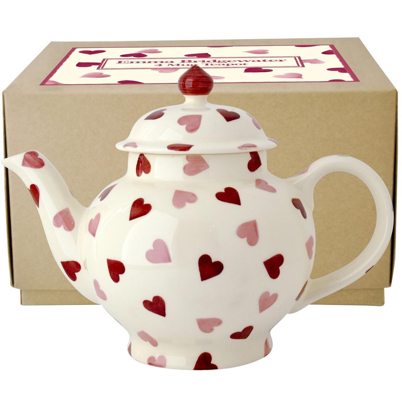 Emma Bridgewater Pink Hearts 4 Cup Teapot