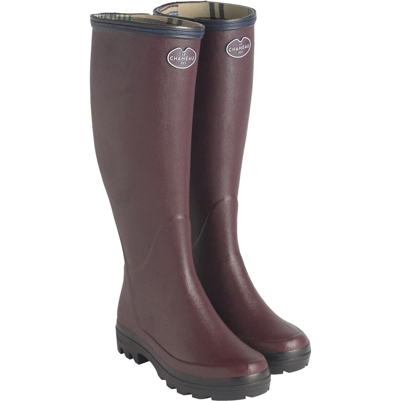 Le Chameau Ladies Giverny Wellingtons Cherry