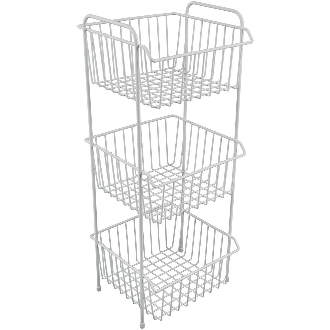 Delfinware Three Tiered Vegetable Rack in White