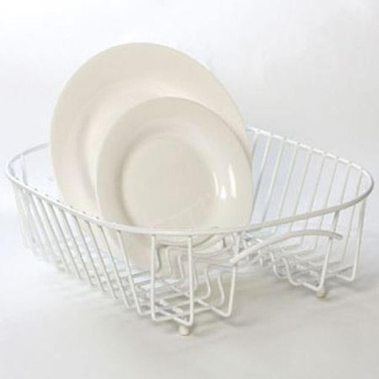 Delfinware Plate Sink Basket in White