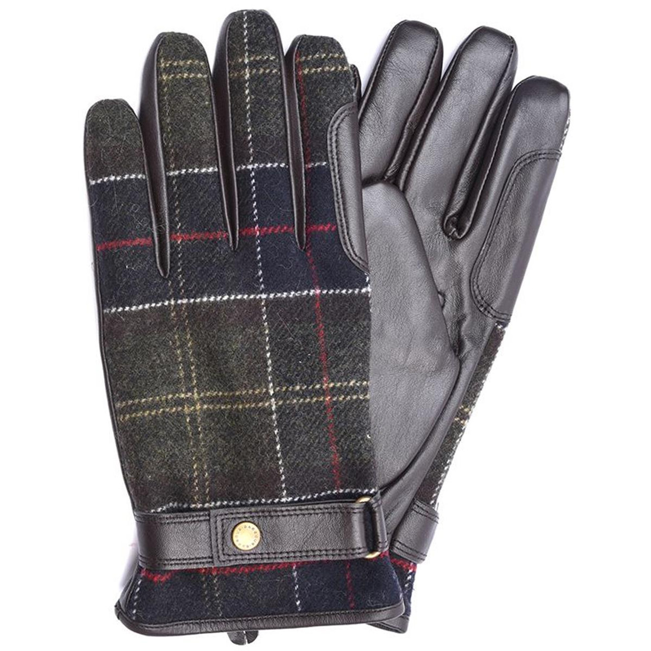 Barbour Mens Newbrough Waterproof Tartan Gloves