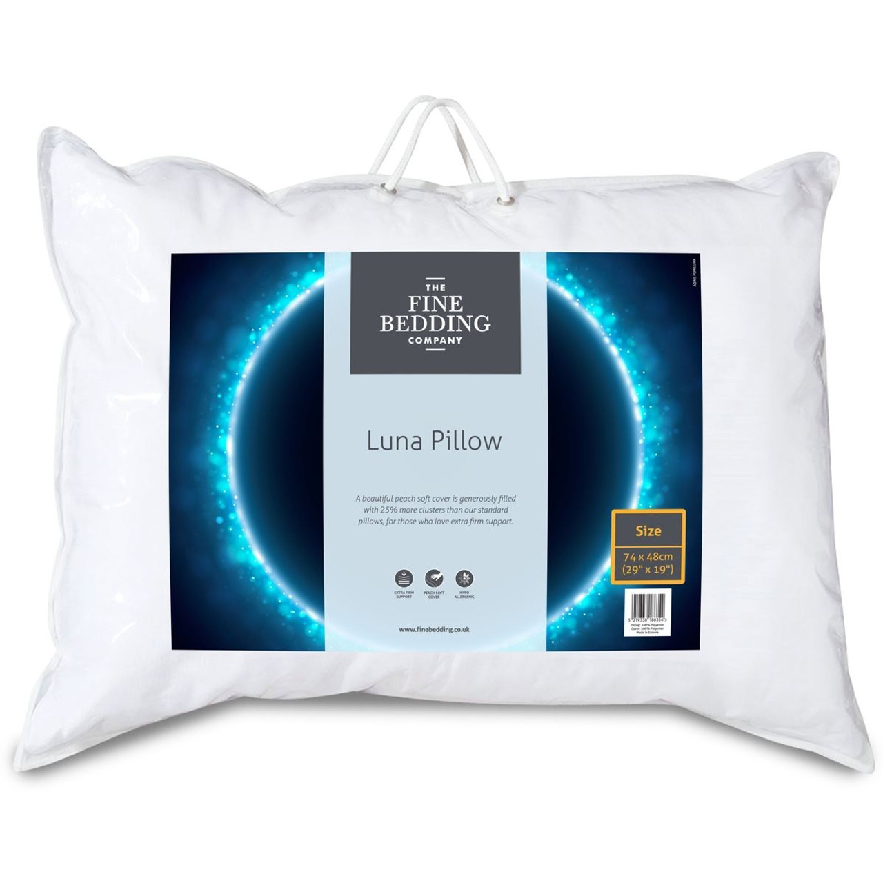 The Fine Bedding Company Luna Pillow packaging