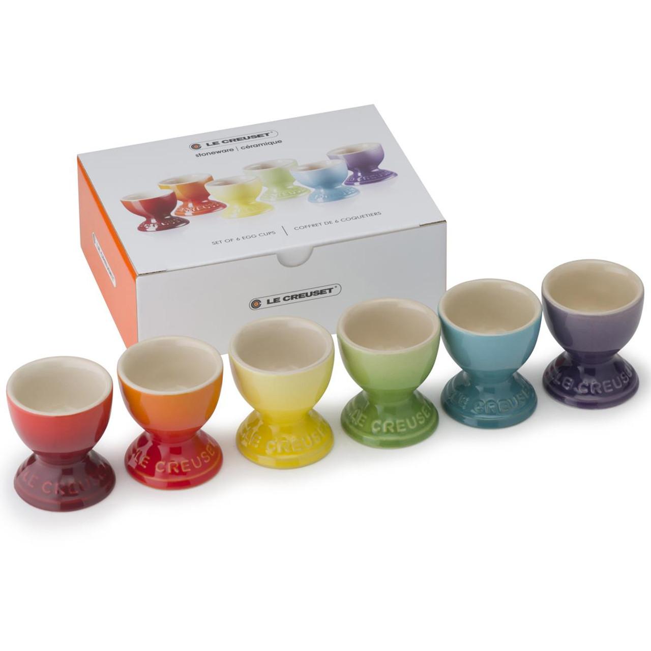 Le Creuset Stoneware Rainbow Set Of 6 Egg Cups