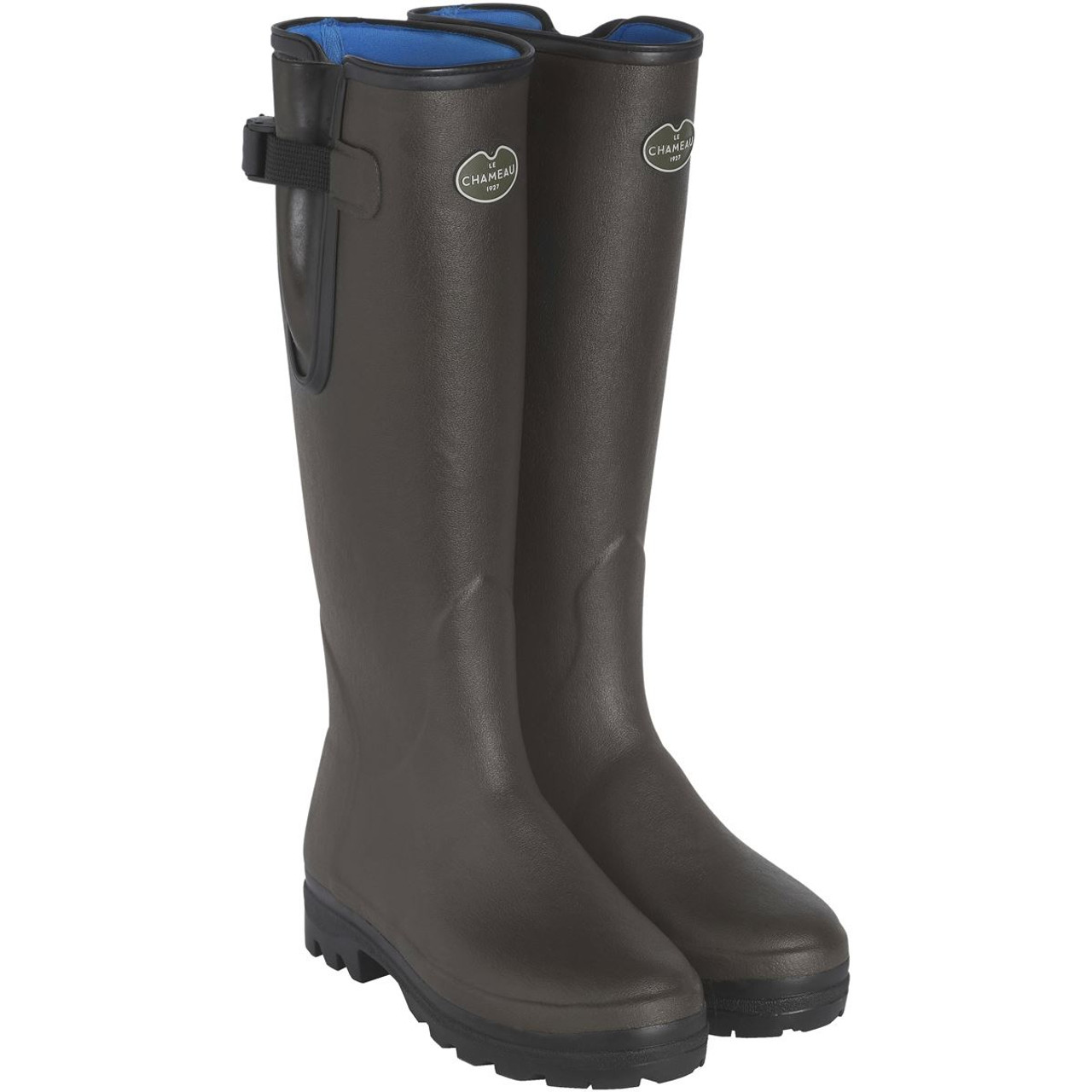 Marrron Le Chameau Ladies Vierzonord Neoprene Lined Wellington Boots