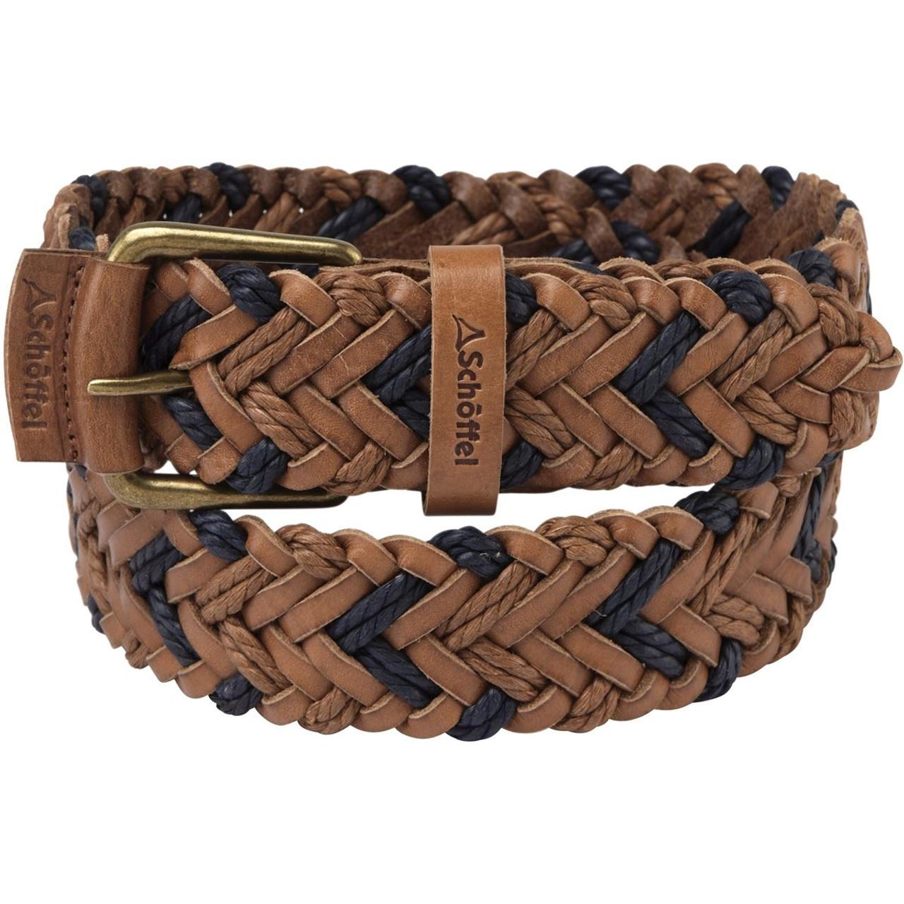 Schoffel Unisex Woven Leather Belt