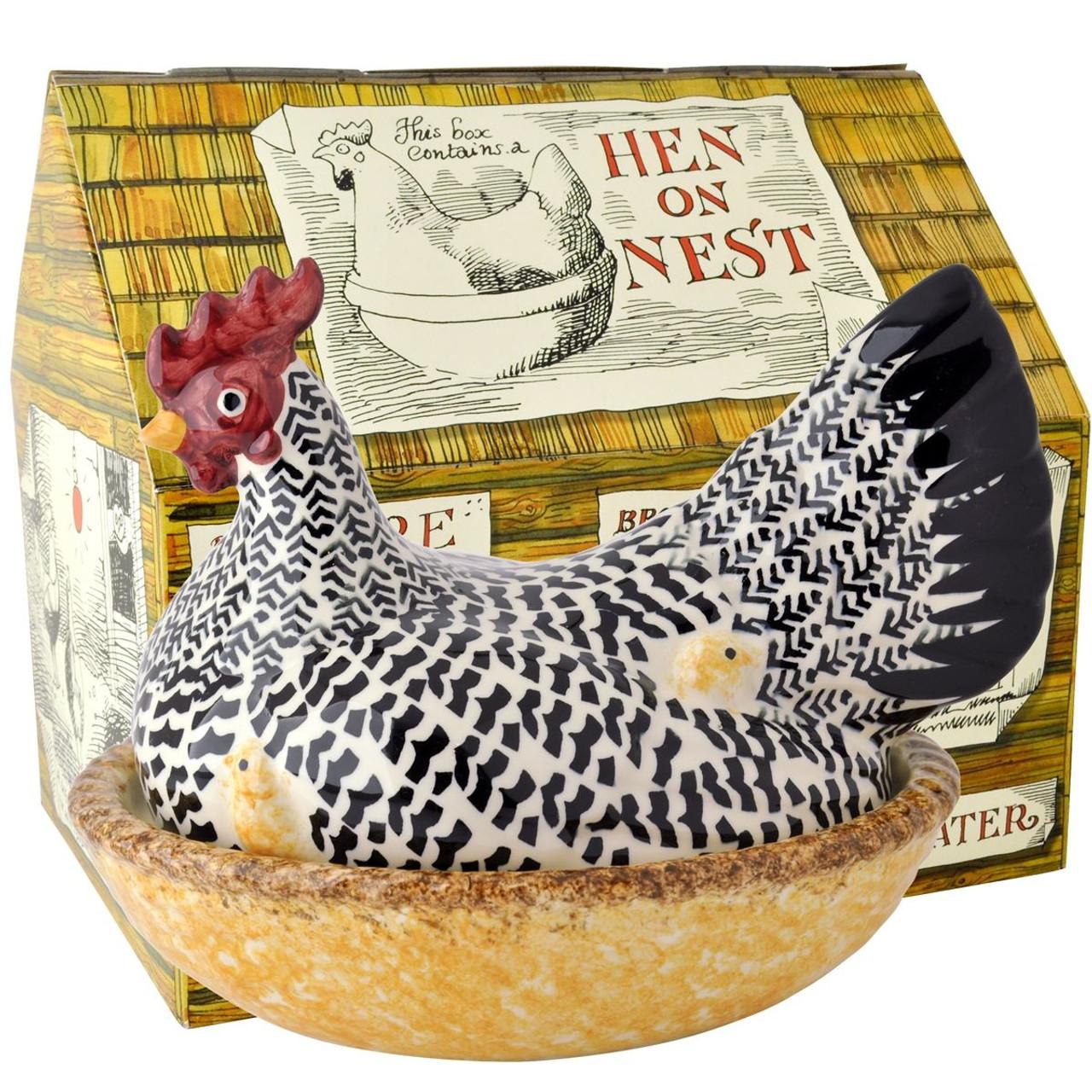 Emma Bridgewater Black Toast Silver Hen On Nest